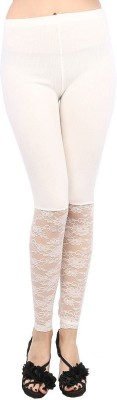 Fashion Kala Women's White Leggings
