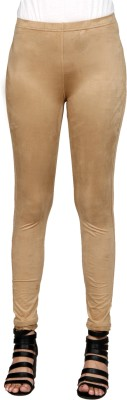 Sheenbottoms Women's Beige Leggings