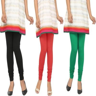 Agrima Fashion Women's Black, Red, Green Leggings