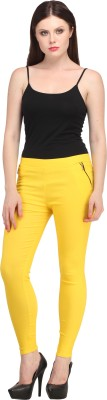 Christy World Women's Yellow, Yellow Jeggings