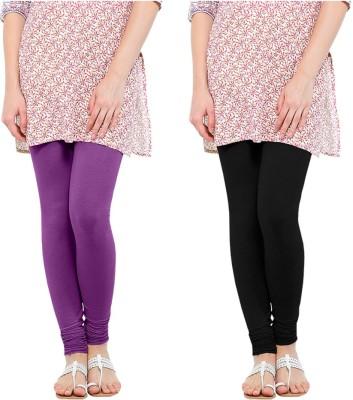 Oh Fish Women's Purple, Black Leggings