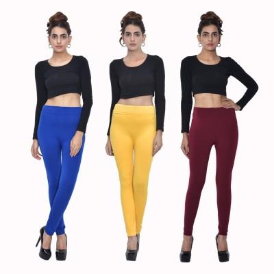 Both11 Women's Blue, Yellow, Maroon Leggings