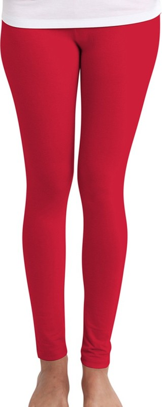 Huetrap Women's Red Leggings