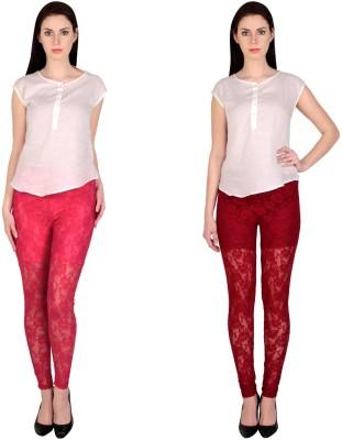 Simrit Women's Pink, Maroon Leggings