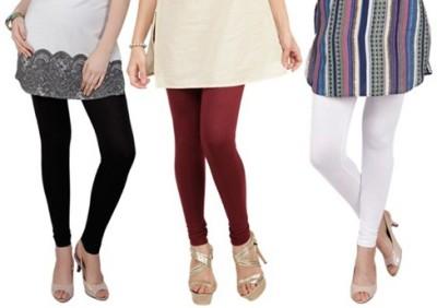 Prekrasna Women,s Black, Maroon, White Leggings