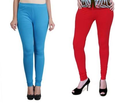 Boofa Women's Blue, Red Leggings