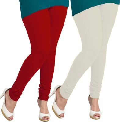 I-Diva Women's Red, White Leggings