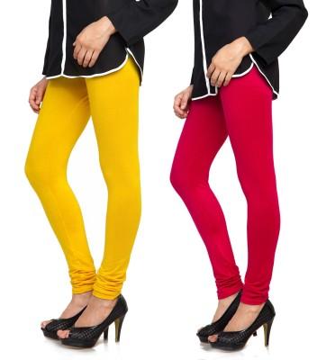 Bulbul Women's Yellow, Red Leggings