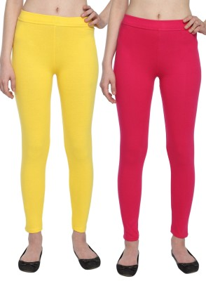 Aloft Women's Yellow, Pink Leggings