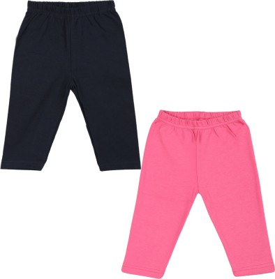 Color Fly Baby Girls Pink, Dark Blue Leggings