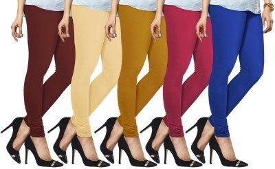 Mahadevi Women's Multicolor Leggings(Pack of 5) at flipkart