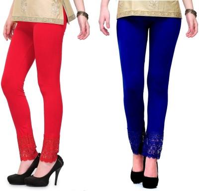 RobinRomeo Women's Red, Blue Leggings