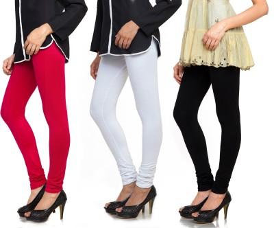 Bulbul Women's Red, White, Black Leggings