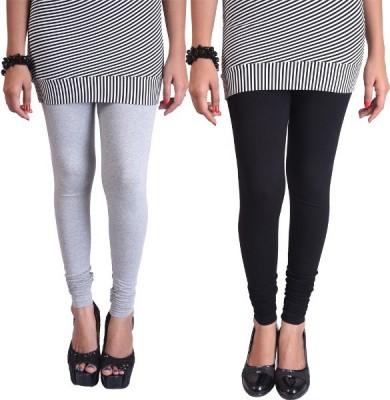 WellFitLook Women's Grey, Black Leggings