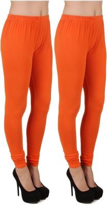 Stylishbae Women's Orange, Orange Leggings