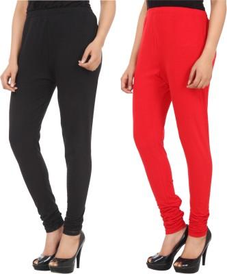 Xposé Women's Black, Red Leggings