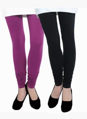 Uzee Women's Purple, Black Leggings
