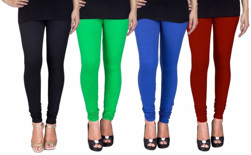 C&S Shopping Gallery Women's Black, Green, Blue, Maroon Leggings(Pack of 4)