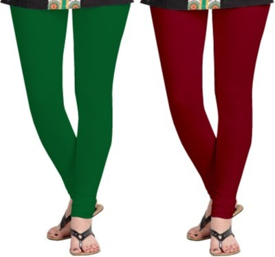 Hirshita Leggingss Women's Green, Maroon Leggings