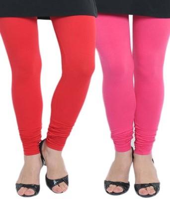 KANNAN Women's Red, Pink Leggings