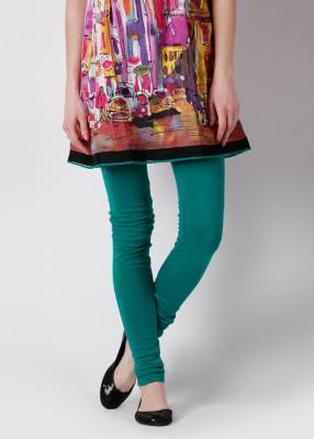 Aneri Women's Green Leggings