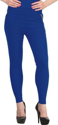 Prachi Silk Mills Women's Blue Jeggings