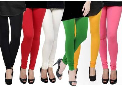 Fashion Zilla Women's Black, Maroon, White, Light Green, Yellow, Pink Leggings