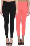 NumBrave Women's Black, Pink Leggings (P...