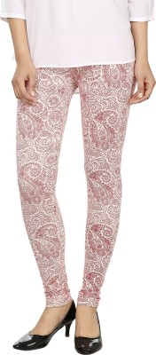 desistyle Women's White, Red Leggings