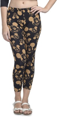 Mickey & Friends Women's Black Leggings at flipkart