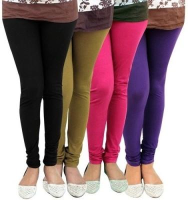 FOXY Women's Black, Brown, Pink, Purple Leggings