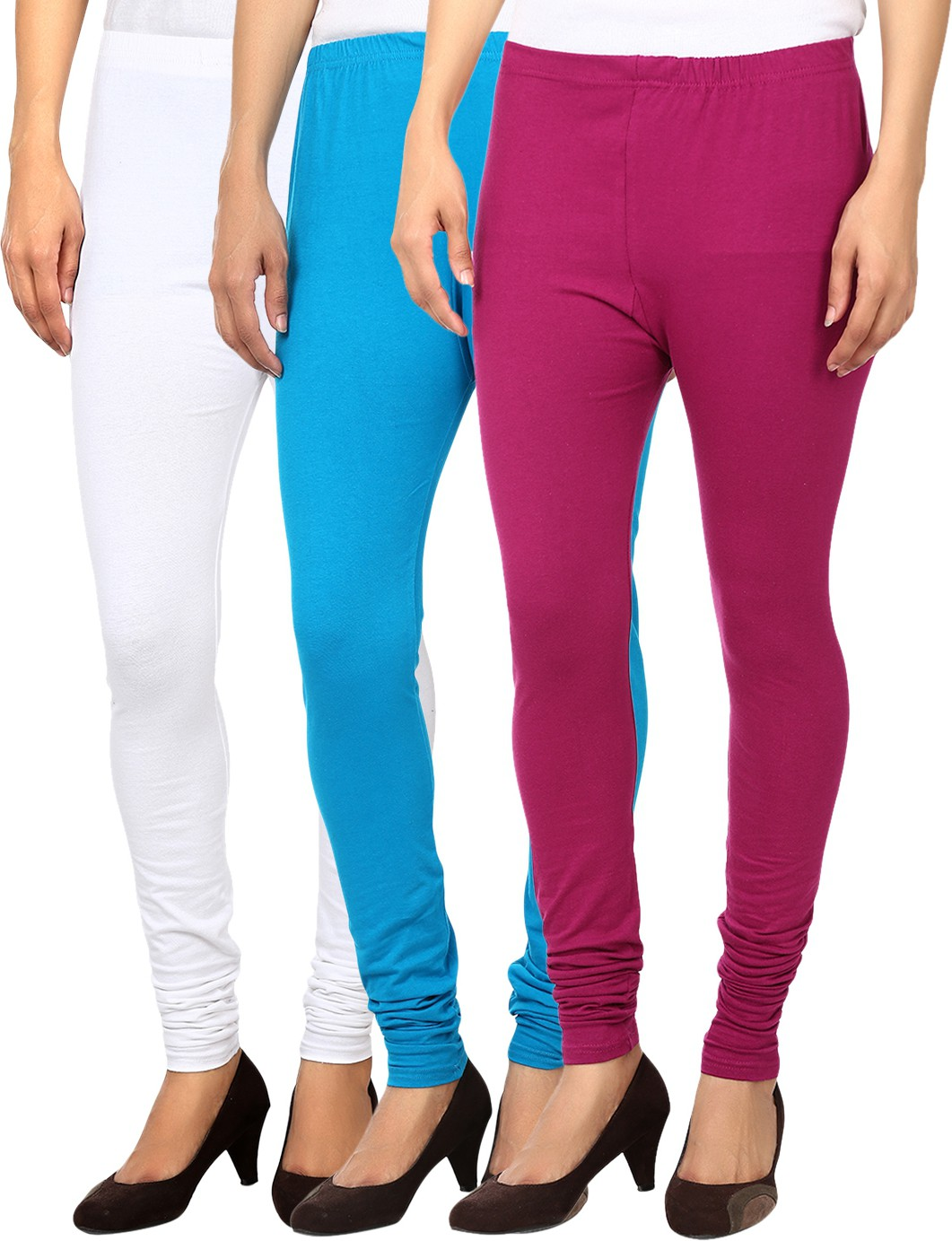 Awa Womens Multicolor Leggings(Pack of 3)