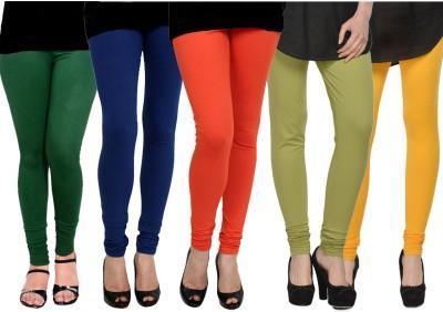 Kjaggs Women's Orange, Blue, Dark Green, Green, Yellow Leggings