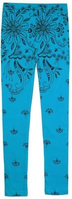Jazzup Girl's Blue Leggings