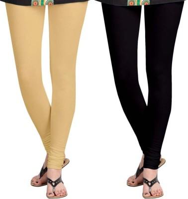 Roshni Creations Women's Black, Beige Leggings