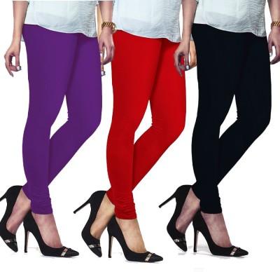 Bodymist Women's Black, Red, Purple Leggings