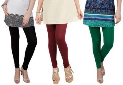 divine creations Women's Black, Maroon, Green Leggings
