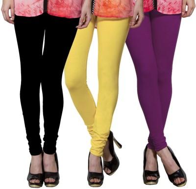 Both11 Women's Black, Yellow, Purple Leggings