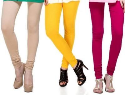 Zadine Women's Beige, Orange, Pink Leggings