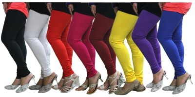 NOVA TRENDZZ Women's Black, White, Red, Pink, Maroon, Yellow, Purple, Blue Leggings