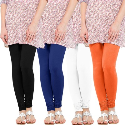 WellFitLook Women's Black, Blue, White, Orange Leggings
