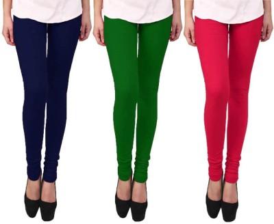 Escocer Women's Blue, Green, Pink Leggings