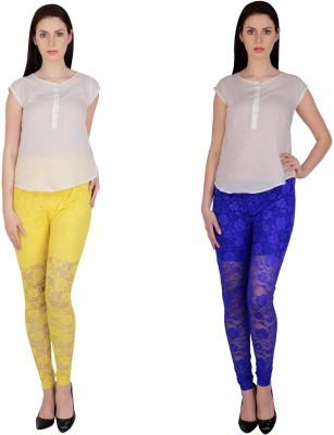 Simrit Women's Yellow, Blue Leggings