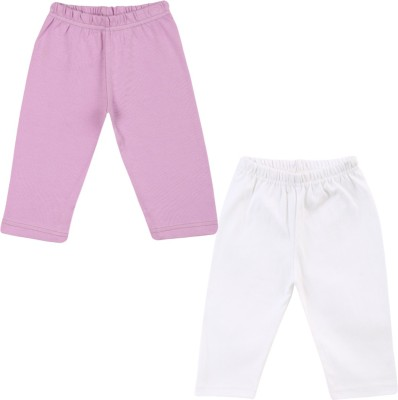 Color Fly Baby Girls Purple, White Leggings