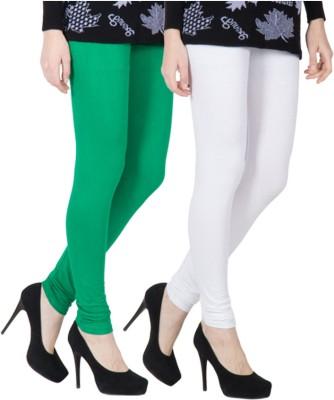 VERMELLO Women's Green, White Leggings