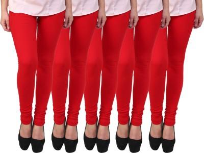 Escocer Women's Red Leggings
