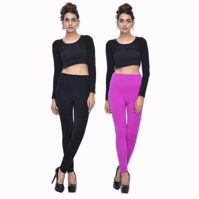 Both11 Women's Black, Purple Leggings