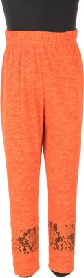 Le Luxe Baby Girl's Orange Leggings