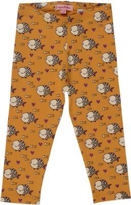 Crayon Flakes Girl's Yellow Leggings