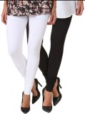 Fasense Women's White, Black Leggings (P...